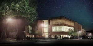 Rendering of new Hayward Public Library building